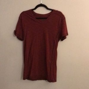 Maroon V-neck T-shirt